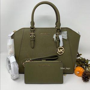 Michael Kors Ciara Large Top Zip Satchel & Wallet
